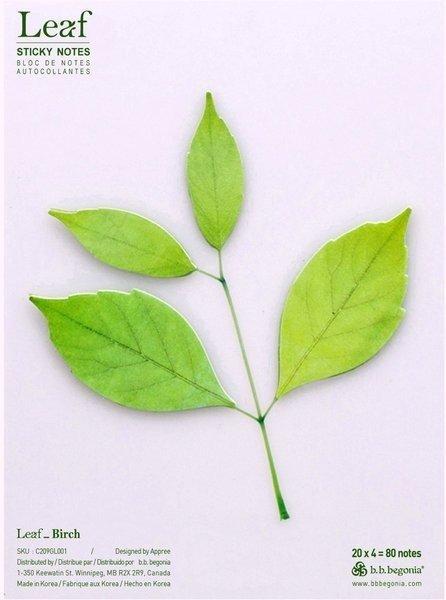 B.B. Begonia Birch Leaf Sticky Notes