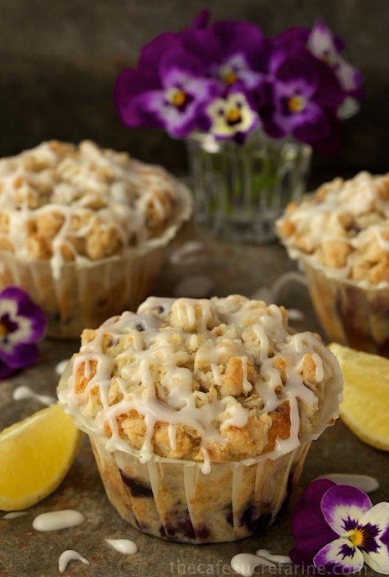 Bakery Style Blueberry Lemon Muffins