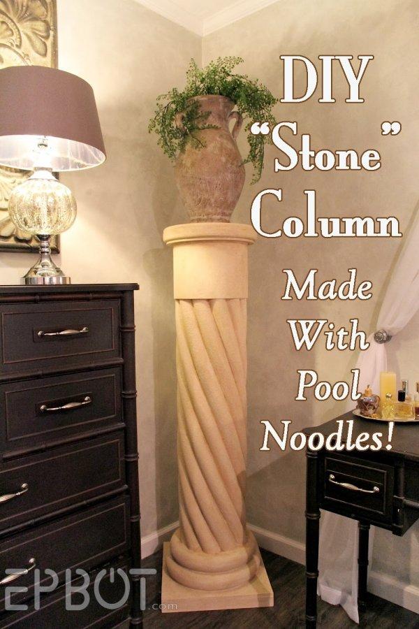 "Make Your Own ""Stone"" Decorative Column"