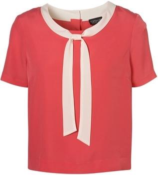 Topshop Short Sleeve Sailor Blouse