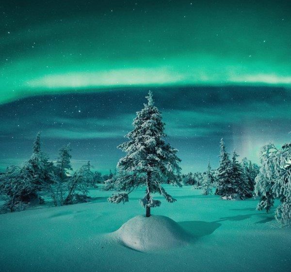 aurora, atmosphere, night, ocean, moonlight,