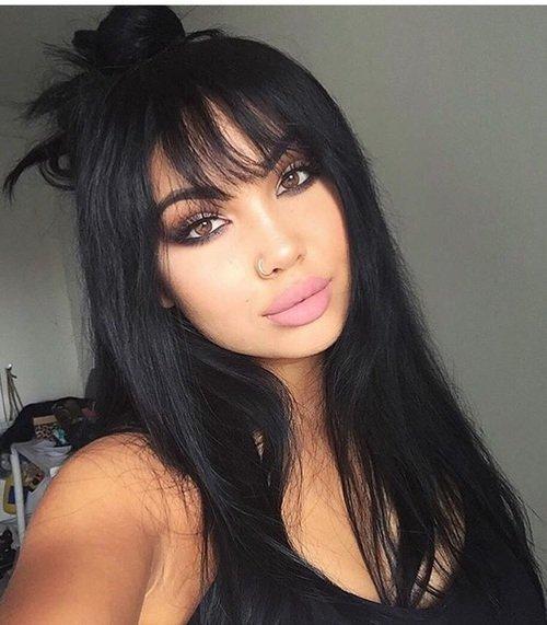 hair, black hair, face, person, nose,