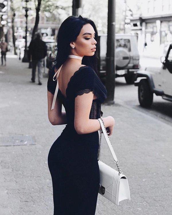 clothing, hair, little black dress, black and white, dress,