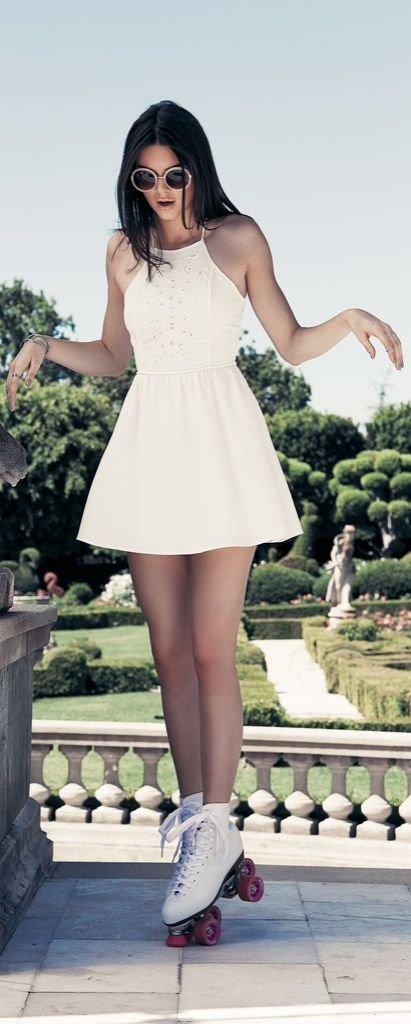 Pac Sun White Skater Dress