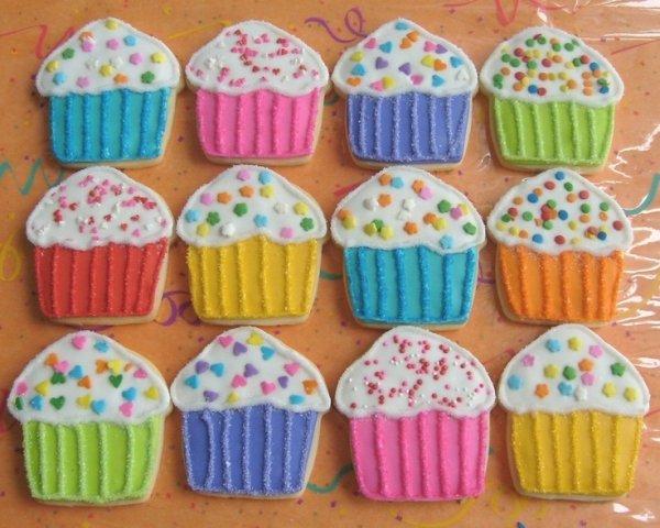 Cupcake Decorated Cookies