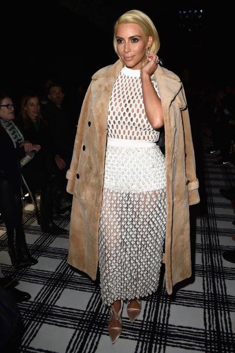 Kim Kardashian at the Balenciaga Fall 2015 Show