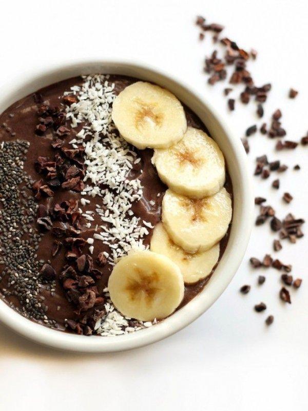 Banana Cacao Avocado Acai Bowl