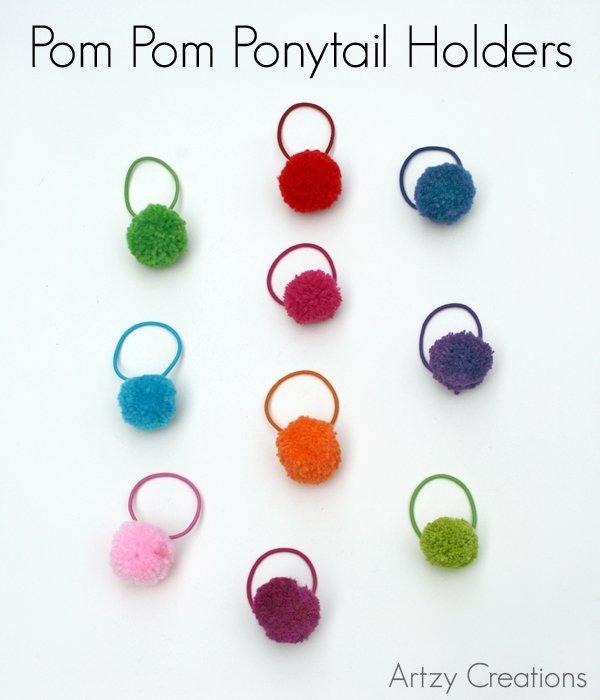 Pom Pom Ponytail Holders
