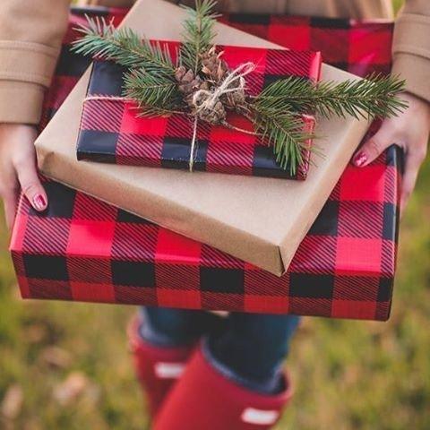 gift, tartan, pattern, christmas decoration, holiday,