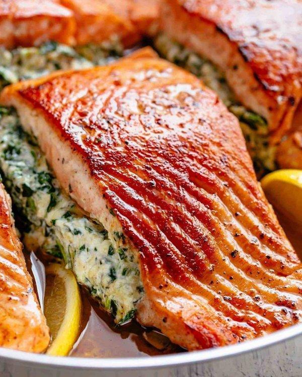 dish, smoked salmon, salmon, food, roasting,