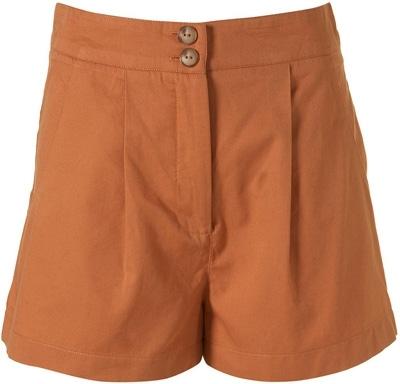 Topshop Apricot Cotton Shorts