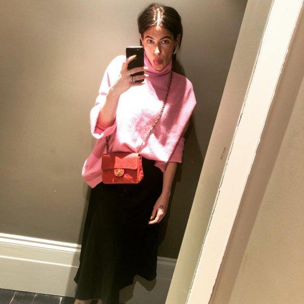 Pink, White, Clothing, Shoulder, Fashion,