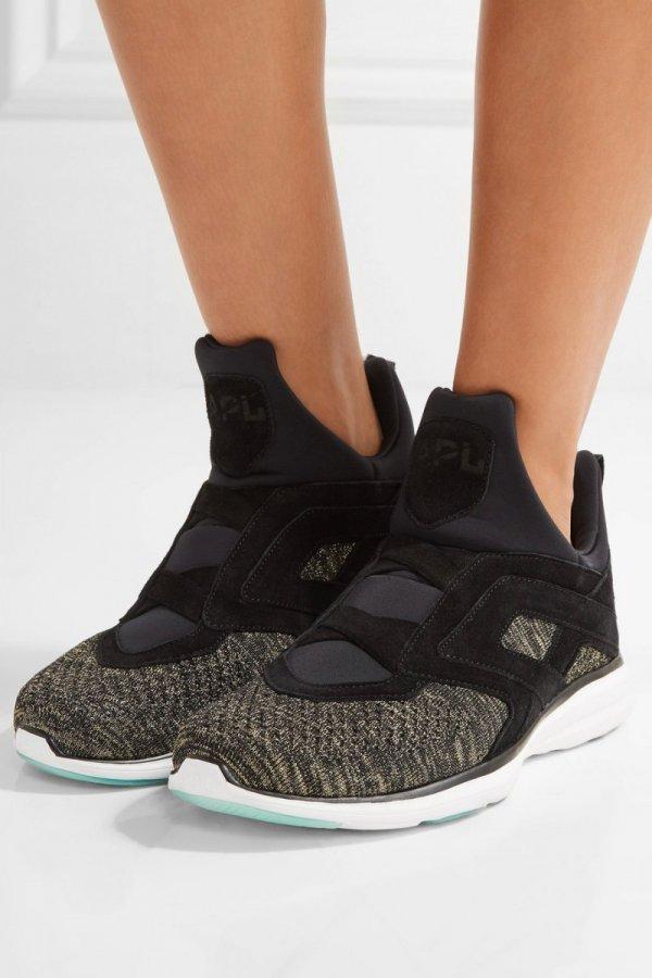 footwear, shoe, sneakers, black, leather,
