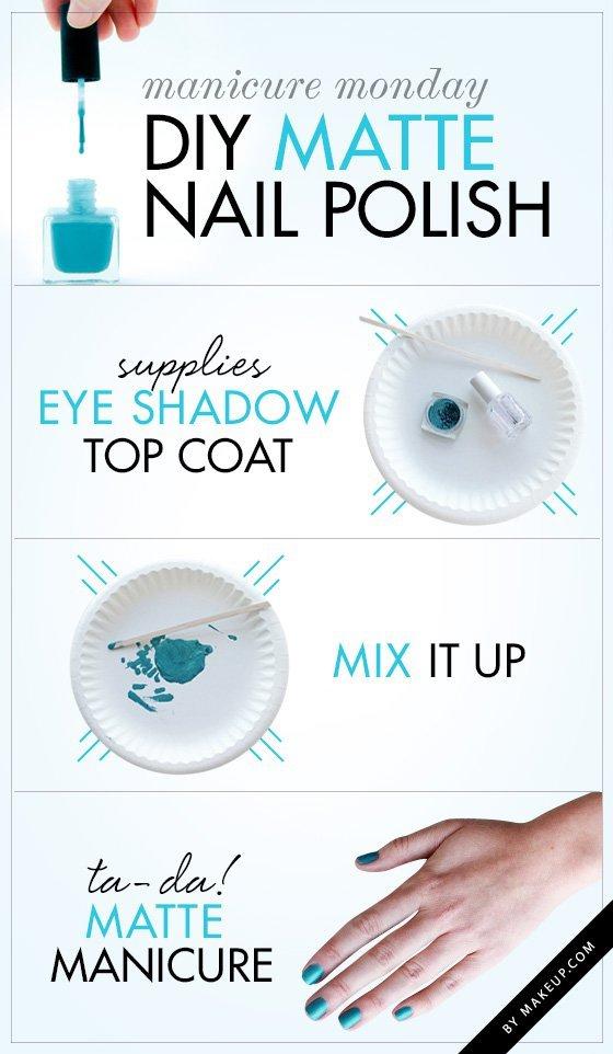 DIY Matte Nail Polish - 17 Nail Infographics That\'ll Make You…