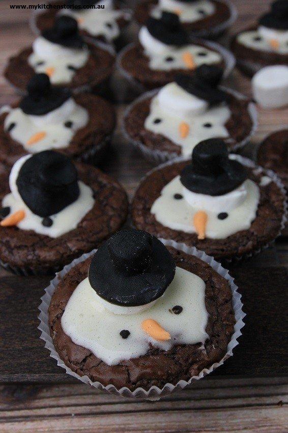 Winter Wonderland Snowman Brownie Recipe