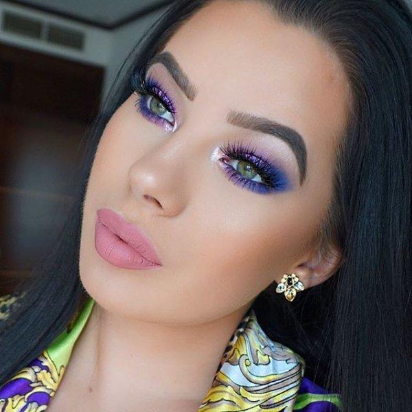 eyebrow, face, eye shadow, purple, beauty,