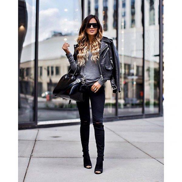 clothing, black, leather, jacket, sleeve,