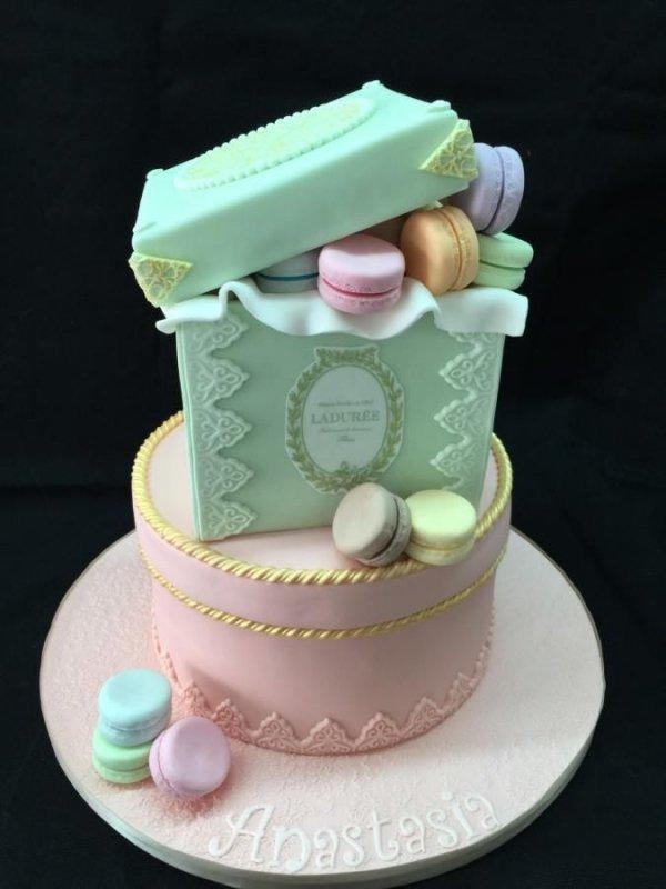 Colorful Macarons Cake