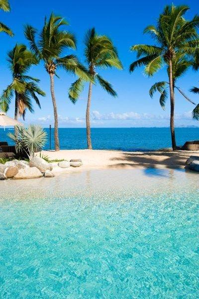 tropics, caribbean, swimming pool, resort, sea,