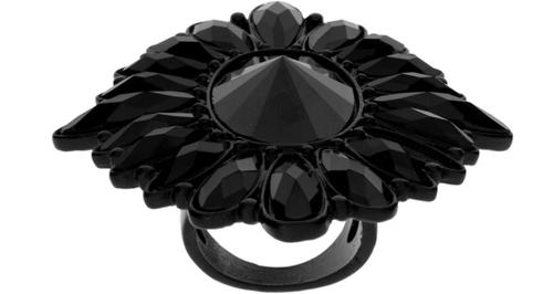 Jet Stone Statement Cocktal Ring by ASOS