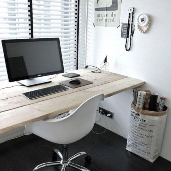desk, furniture, room, office, desktop computer,