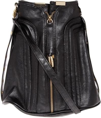 Dorothy Perkins Black Zip Front Duffle Bag