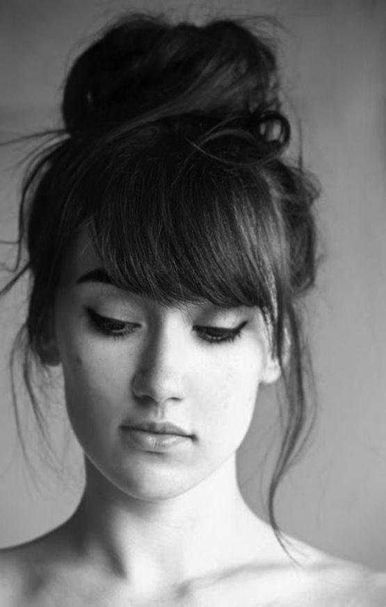 hair,face,black and white,white,black,