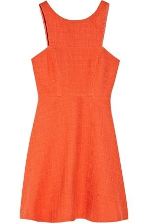 Tibi Basketweave Cotton-Blend a-line Dress