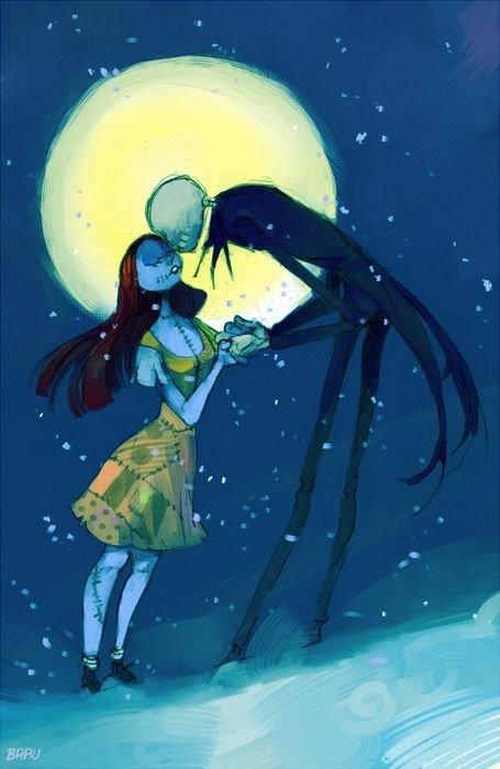 "Sally and Jack, ""the Nightmare before Christmas"""