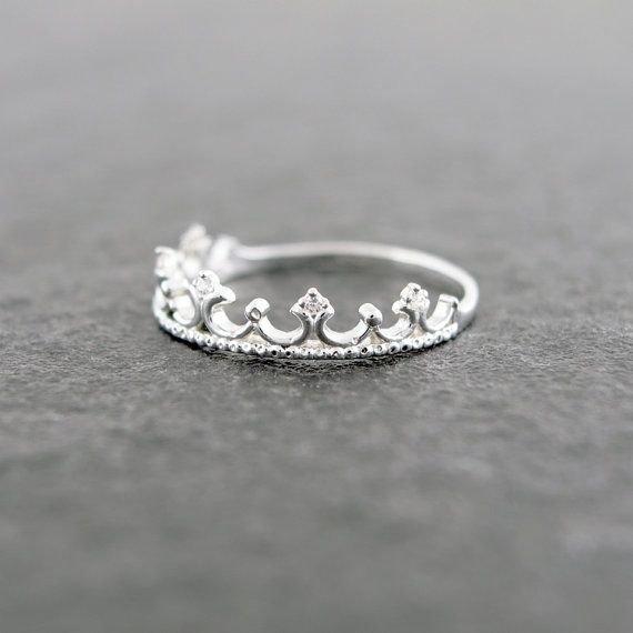Sterling Silver Tiara Ring