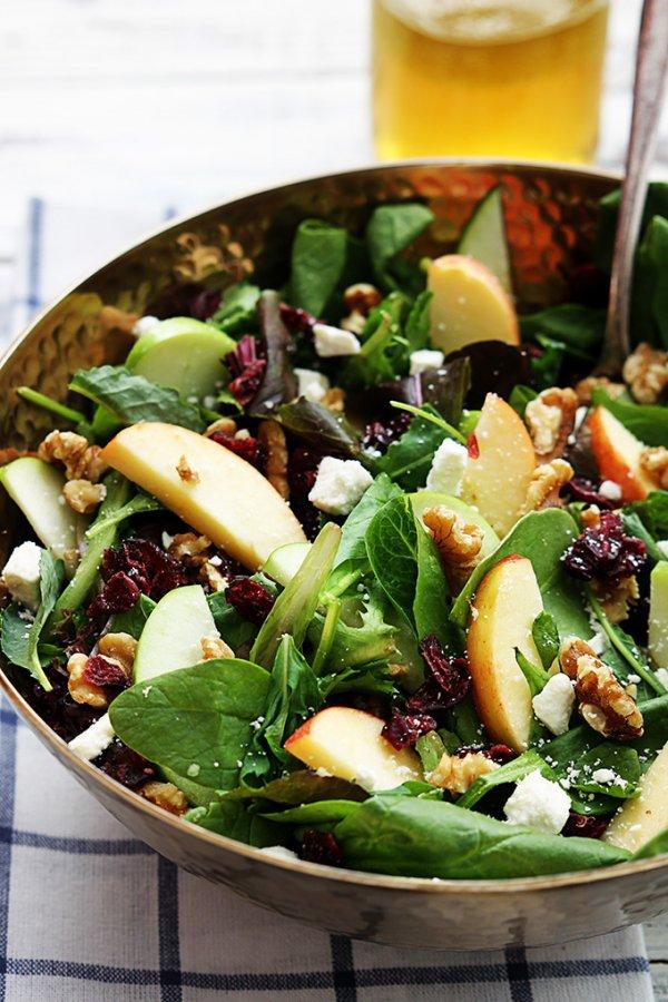 Apple, Cranberry and Walnut Salad