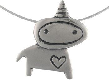 Mark Poulin Unicorn Love Necklace
