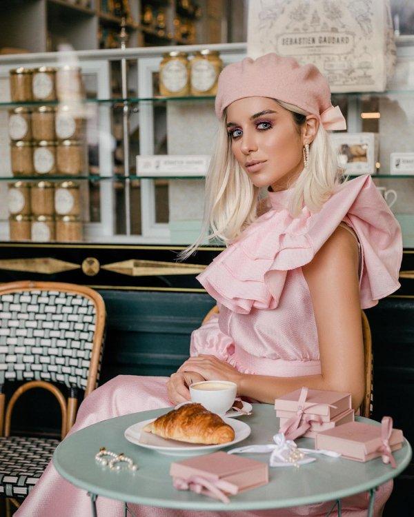 Pink, Blond, Peach, Tableware, Food,