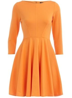 Dorothy Perkins Orange Fit and Flare Dress