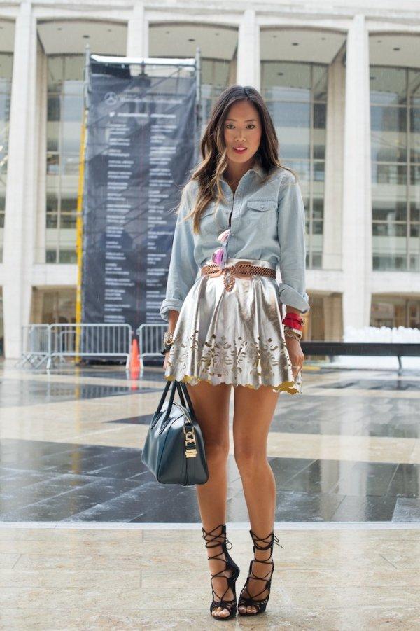 Mini Cutout Skirt