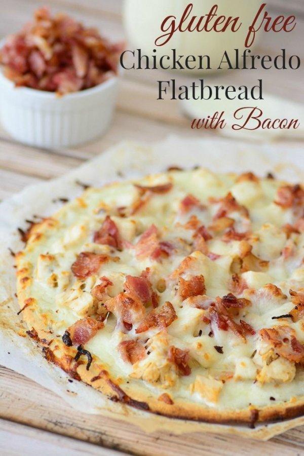 Gluten Free Chicken Alfredo Flatbread