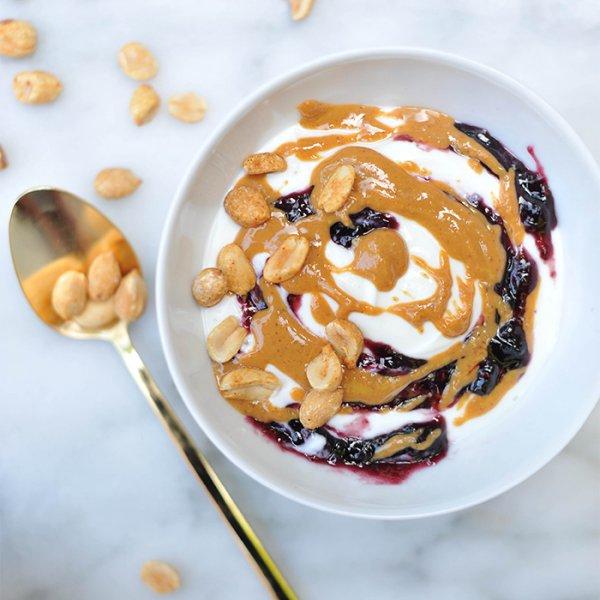 Peanut Butter & Jelly Greek Yogurt