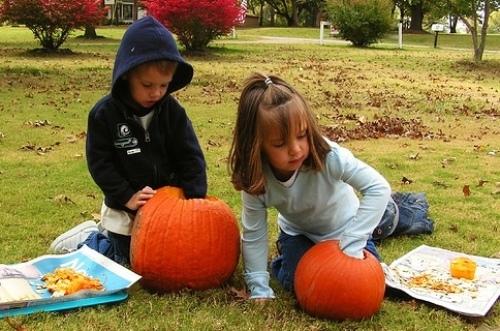Pumpkin Candy Tray