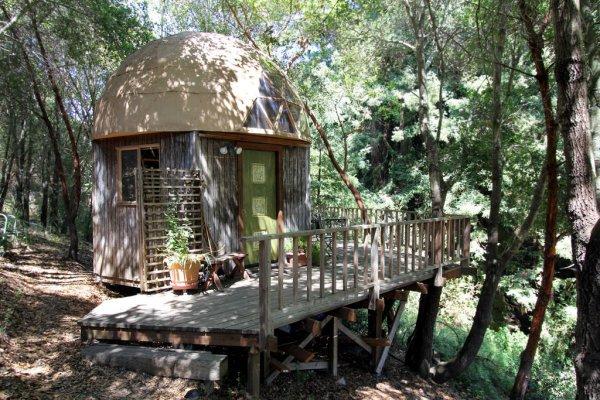 A Couple Can Sleep Cozily under a Mushroom Dome in Aptos