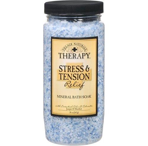 Village Naturals Therapy Mineral Bath Soak, Stress & Tension Relief