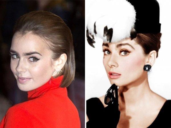 Lily Collins & Audrey Hepburn