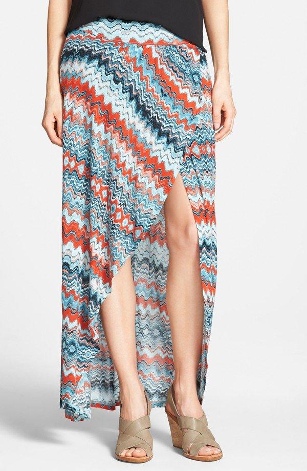 Drippy Stripes' Maxi Skirt