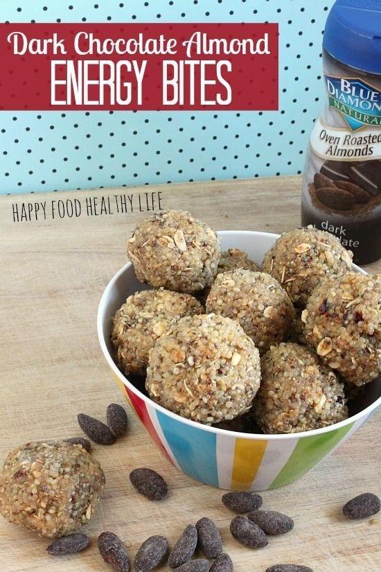 Dark Chocolate Almond Energy Bites
