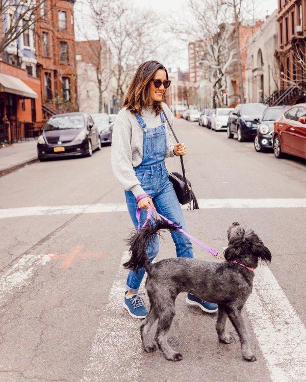 jeans, dog walking, leash, trousers, denim,