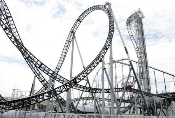 Takabisha, Fuji-Q Highland Theme Park, Fujiyoshida, Yamanashi, Japan