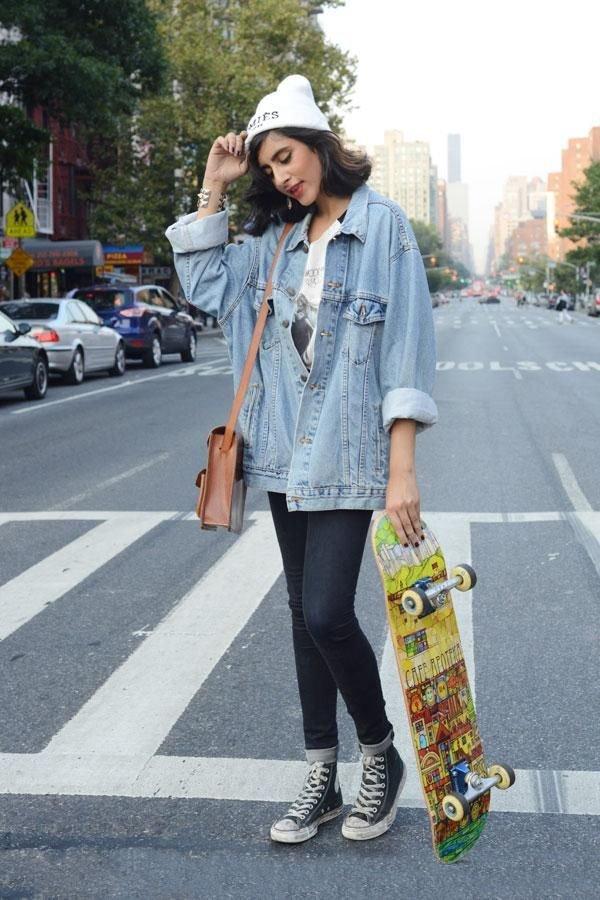 Loving the Oversized Jean Jacket