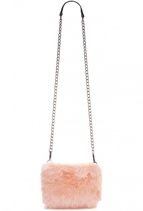 Faux Fur Blush Bag