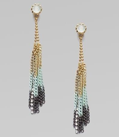 Juicy Couture Fringe Hoop Earrings