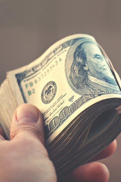 Large Amounts of Cash