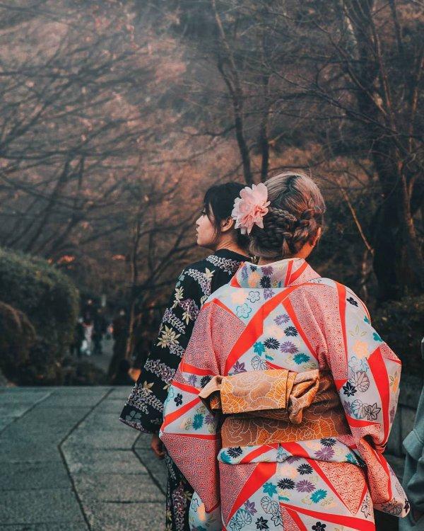 woman, clothing, geisha, kimono, temple,